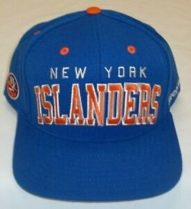 NHL New York Islanders Flat Bill Snapback Hat By Reebok - Adult One Size New