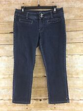 Angels Jeans Skinny Capri Juniors 13 Cropped Trouser Dark Blue Wash Stretch Slim