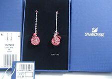 Tones Crystal Crystal Mib - 1127206 Swarovski Rhum Pierced Earraings Coral Pink