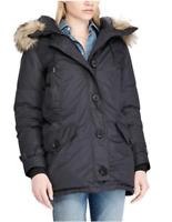 Ralph Lauren Women's Puffer Down Jacket Coat Faux Fur - Medium M Black - RRP£499