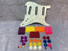 Custom Pearl Pickguard + Pickup Covers Control Knobs Lot for Fender Stratocaster