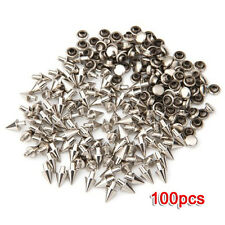 100 PCS Metal Punk Rivets 7 x 6 mm Screw Rivets Silver LW
