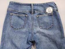 "Boom Boom womens jean size 9 x 32"" Stretch flare low rise cotton blend Inseam"