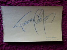 TOMMY COOPER - COMEDY MAGICIAN  -  AUTOGRAPH  - 1970