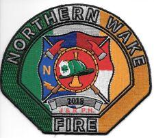"Northern Wake  Fire Dept. - 2018, North Carolina  (4.5"" x 4"" size) fire patch"