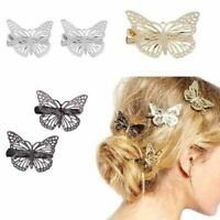 Gold Silver Butterfly Hair Clips Hairpins Wedding Barrette Accessories Gift