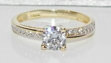 9ct Yellow Gold 0.75ct Solitaire Engagement Ring size K - UK Hallmarked