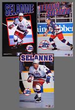Rare TEEMU SELANNE Winnipeg Jets 1993-1995 NHL Action POSTERS 3-Poster Combo
