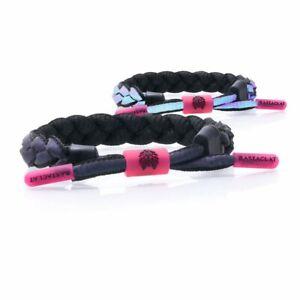 Rastaclat Dark Matter Reflective Braided Shoelace Wristband Bracelet 11450016