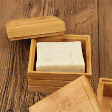 Bamboo Soap Dish Soap Tray Holder Storage Rack Container for Bathroom Shower