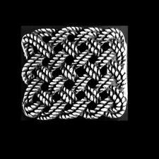 Keltische Gürtelschnalle Silber Spirale Knoten Tau Buckle Belt Wechselschließe