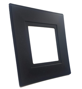 Black Single Light Switch Socket Finger Plates Surround Wall Protector Cover
