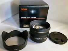 Sigma 50mm f/1.4 EX DG HSM AF Prime Lens for Sony & Minolta A Mount - No Reserve