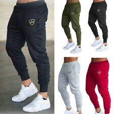 Men Slim Fit Tracksuit Sport Pants Gym Skinny Jogging Joggers Sweat Trousers US