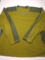 REI Men's Pullover Fleece Sweater Shirt Size XXL Green Long Sleeve A34