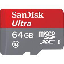 SANDISK ULTRA MICROSDXC SPEICHERKARTE 64GB + SD-ADAPTER KARTENLESER CLASS 10
