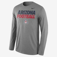Arizona University U of A Football Men's Nike Dri-Fit Long Sleeve XL Grey Gray