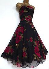 MONSOON   ✩  STUNNING EVE CAMILLA SILK CHIFFON ROSE COCKTAIL DRESS ✩  UK 10  ✩
