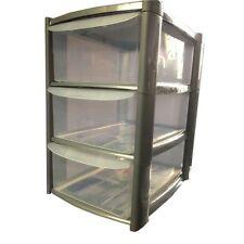 3 cassetto Silver Tower Unità!!! CASSETTI in plastica!!! Organizer Storage!!! Mini/piccoli