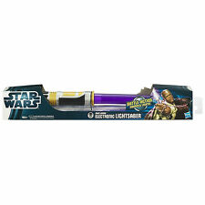 Hasbro Star Wars Electronic Extends Lightsaber MACE WINDU Sounds&Lights Purple