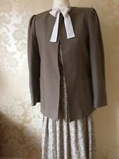 LADIES ALEXON DESIGNER TAUPE SUIT SKIRT, BLOUSE AND JACKET SIZE 10 / 12 NEW