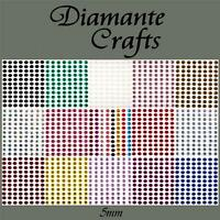 132 x 5mm Diamante Self Adhesive Rhinestone Body Gems Choose from 19 Colours