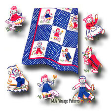 Raggedy Ann Vintage 1940s Quilt Pattern ~ Andy, Belindy, Camel Wrinkled Knees