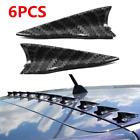 6pcs Parts Accessories Car Roof Shark Fin Decorative Sticker Carbon Fiber Style