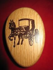 New Amish Horse & Buggy Magic Marble Towel Holder