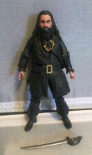 "2011 Disney Pirates of the Caribbean Blackbeard Action Figure Jakks 4"""
