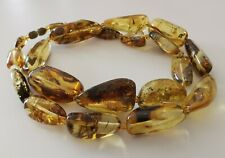 Massive Beads Long Necklace Vintage Genuine Baltic Amber