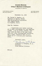 DICKINSON W. RICHARDS - TYPED LETTER SIGNED 09/16/1958