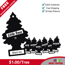 60 Little Trees Hanging Air Freshener Black Ice Magic Tree Scent - $1.00/tree