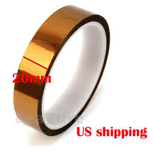 20mmX33m 100ft Kapton Tape High Temperature Heat Resistant Polyimide US Ship