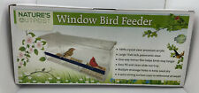 Window Bird Feeder with Strong Suction Cups and Seed Tray, Outdoor Birdfeeders