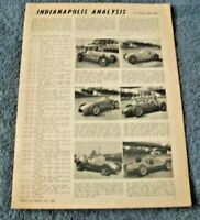 """1950 Indy 500 Vintage Race Highlights Article """"Indianapolis Analysis"""""""