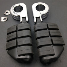 "P-Clamps 1 1/4"" Large Foot Pegs For Yamaha V-STAR Roadstar Kawasaki VULCAN"