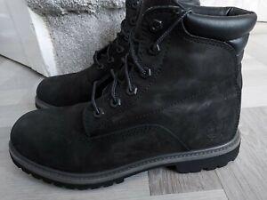 GENUINE  Ladies timberland Black boots size 6.5 UK / 39.5 EU ORTHOLITE