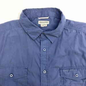 Red Craghoppers Edmond Short Sleeve Mens Shirt
