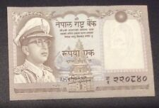 RARE!!NEPAL Re1 notes of KING MAHENDRA - Replacement Prefix SIG.#  8 P-8 UNC.