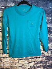 Southern Tide🐟 Teal L/S Pocket T-shirt Size Youth L🔥🎣Rare🔥Only1 On Ebay🔥