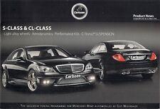 MERCEDES-BENZ CLASSE S & CL Carlsson Tuning Accessori 2009 BROCHURE IN INGLESE