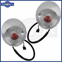 71-72 Cutlass Front Marker Parking Turn Light Lamp Lens Housing Assembly PAIR