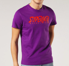 Diesel Diego BB Tshirt Tee Mens Purple Short SleevesTextured Logo UK Size L