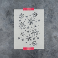 Snowflakes Pattern Stencil - Reusable Stencil for Christmas and Winter