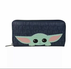 OFFICIAL STAR WARS THE MANDALORIAN THE CHILD LARGE PURSE WALLET 🇬🇧 SELLER
