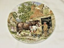 Wedgwood Life On The Farm The Blacksmiths Forge Ltd Collectors Plate Free UK P&P