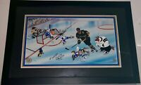 Warner Brothers Animation Cel Mario Lemieux Signed Goal Penguins NHL Hockey Cell