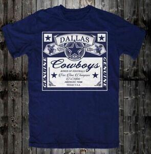 Dallas Cowboys T-Shirt NFL Football Team Funny Navy Vintage Gift Men Women Tee