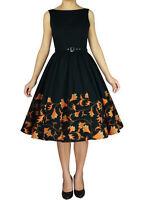 RK95 Audrey Hepburn 50's Rockabilly Swing Evening Pin Up Retro Floral Dress